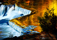 Sunset on the Ontonagon River Falls #2 by Matt Anderson