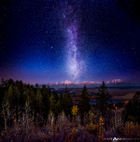 Milky Way Twilight Afterglow over The Grand Tetons by Matt Anderson by matt anderson