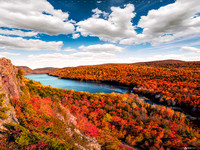 Lake of the Clouds in Fall Colors